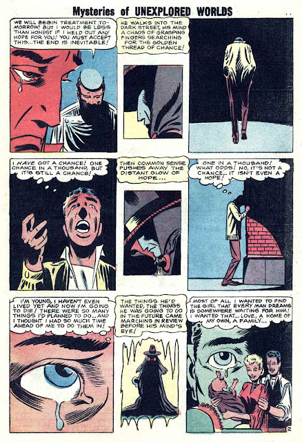 Mysteries of Unexplored Worlds v1 #10 charlton comic book page art by Steve Ditko
