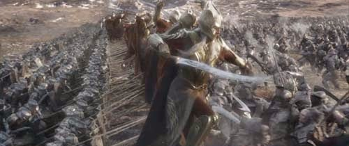 Elves and Dwarves versus Orcs in The Hobbit: The Battle of the Five Armies