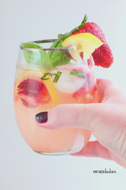 Fresh, garden grown basil and strawberries add a wonderful flavor to basic lemonade. Add some vodka for an adult Strawberry Basil Lemonade.
