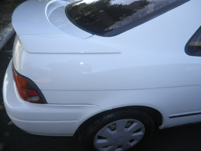 Almost Everything Autobody quarter panel after repair on 1992 Toyota Paseo