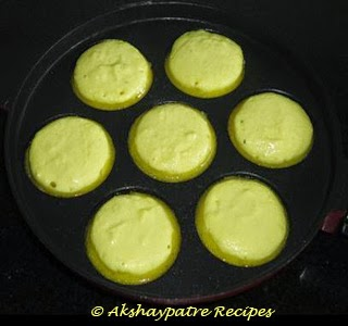 batter poured in the mould