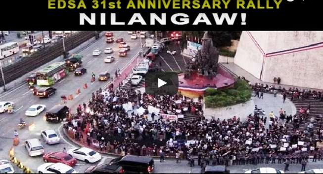 Nilangaw! EDSA 31st People Power Anniversary Rally Walang Gaanong Tao!