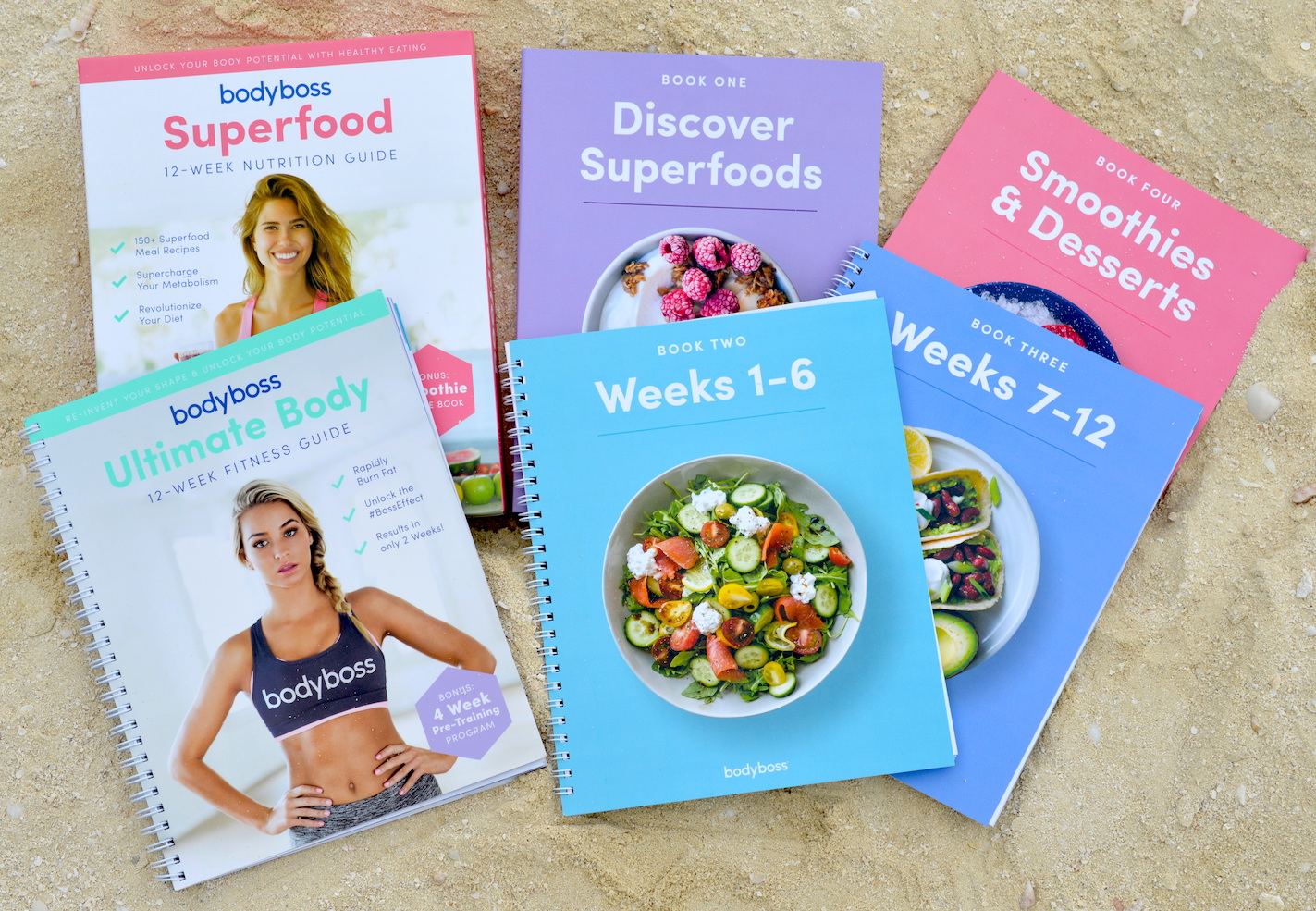 Includes Bonus Smoothie /& Dessert Recipe Book BodyBoss Superfood Nutrition Guide Cookbook