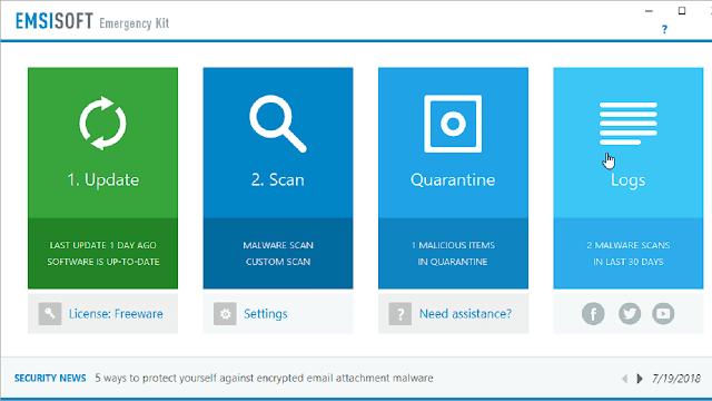 تحميل وشرح برنامج Emsisoft Emergency Kit لحذف المالور والفيروسات من الويندوز بشكل نهائي