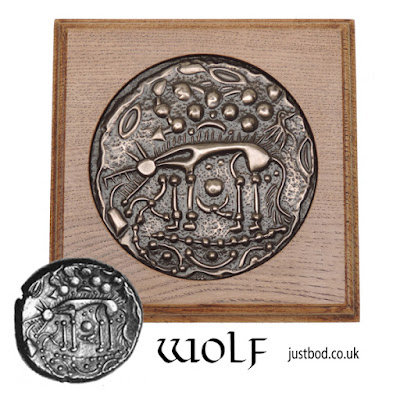 'Norfolk Wolf' Celtic Coin wall plaque from Justbod