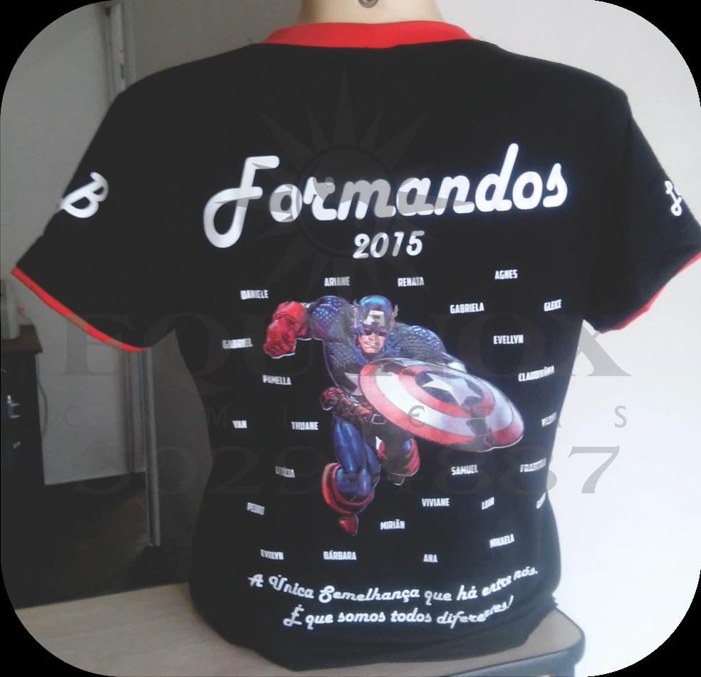 Formandos Capitão América. Postado por Equinox Camisetas às 11 06 00dcf3e1d98