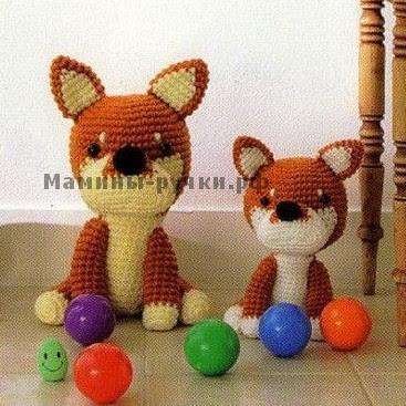 Собака амигуруми  крючком