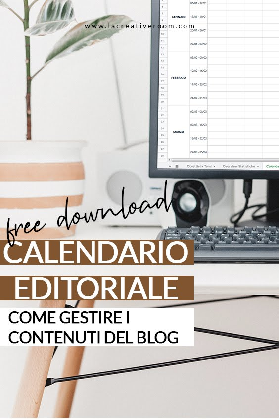 gestire il blog con il calendario editoriale