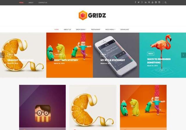 Gridz Blogger Theme