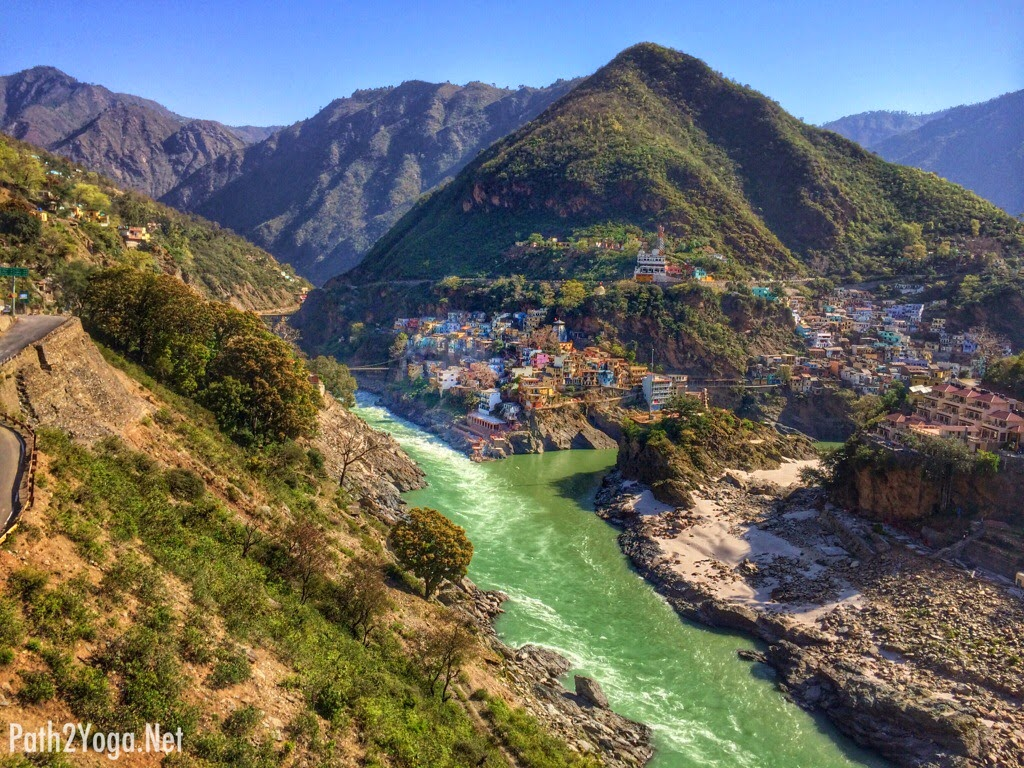 Where Alaknanda and Bhagirathi meet to form the river Ganges