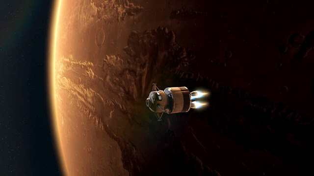 Journey to Space image - leaving Mars