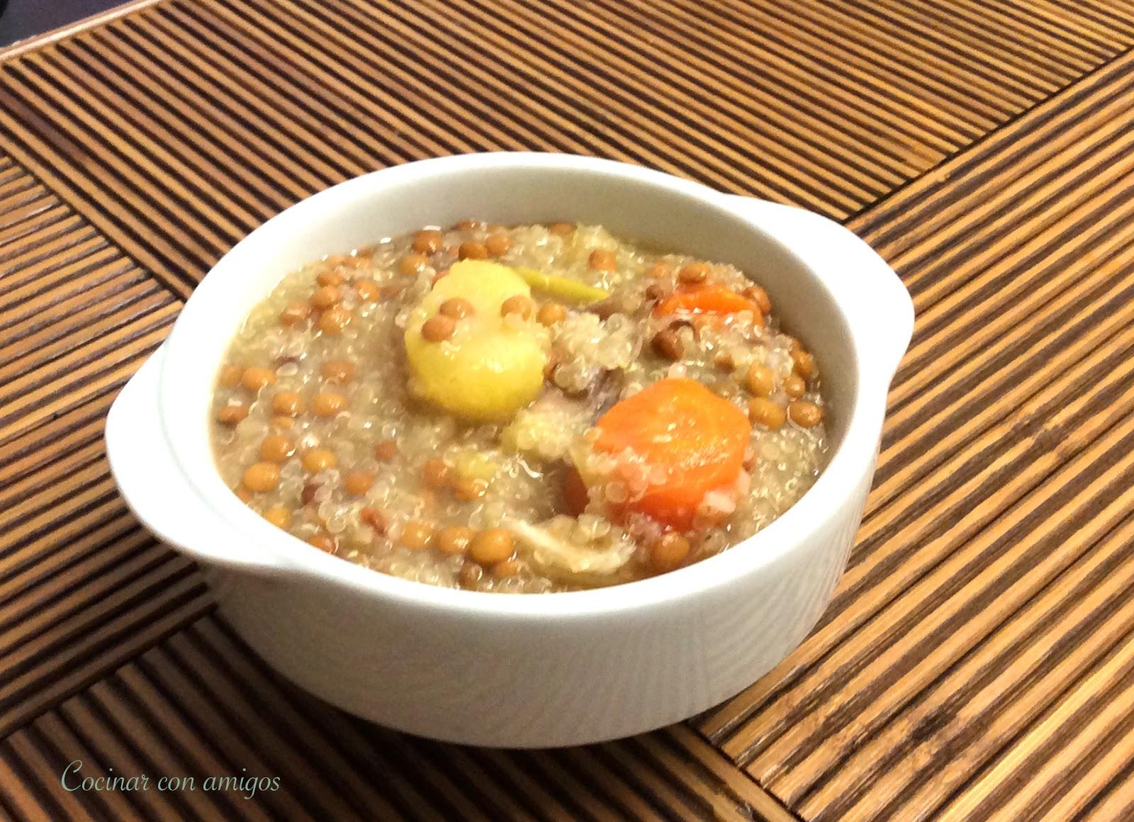 Cocinar Lentejas.Lentejas Estofadas Con Quinoa Cocinar Con Amigos