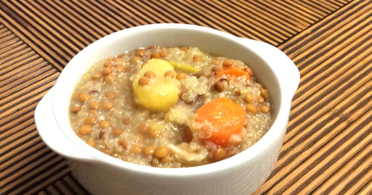Lentejas estofadas con quinoa cocinar con amigos for Cocinar 1 taza de quinoa