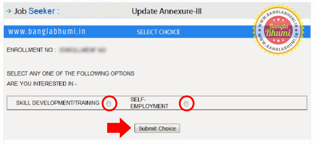 How to Update Annexure-III Employment Bank West Bengal - Step 4