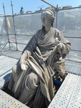 Acaban las obras de restauración de la Cibeles