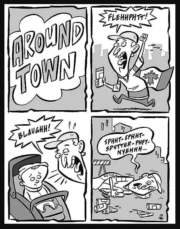 a Rod Filbrandt cartoon about crazy alcoholism