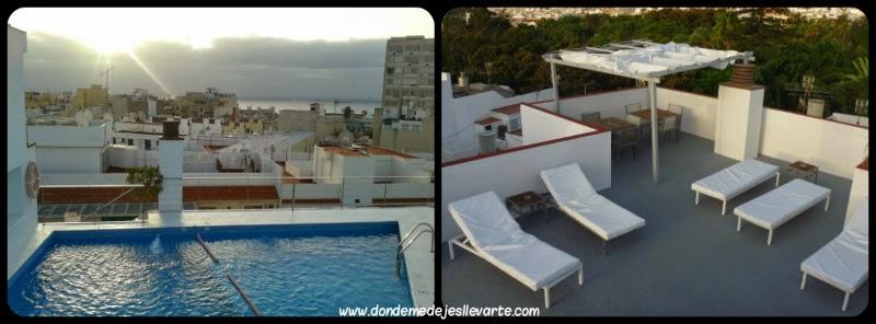Piscina y solarium del Hotel Taburiente - Santa Cruz de Tenerife