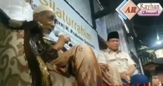Mbah Moen: Prabowo Memimpin Indonesia Tahun Depan