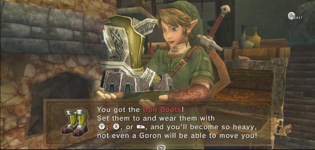 The Legend of Zelda Twilight Princess Iron Boots get item