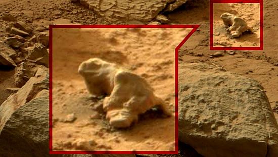Imagens misteriosas de Marte - Iguana em Marte