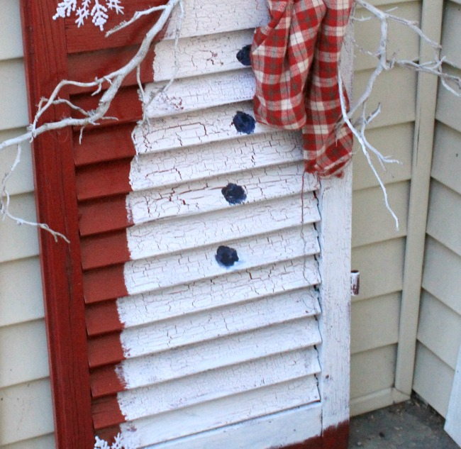 Frosty The Snowman Wooden Shutter Repurpose Crafts A La Mode