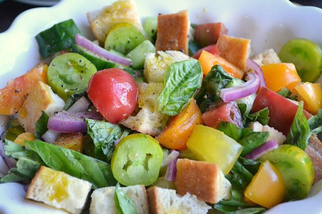Heirloom Tomato Pananella Salad