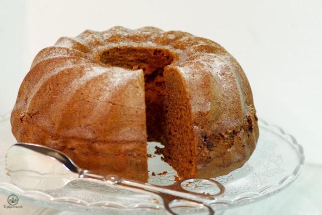 Rezept einfacher schneller luftiger Schokoladen-Gugelhupf - Foodblog Topfgartenwelt