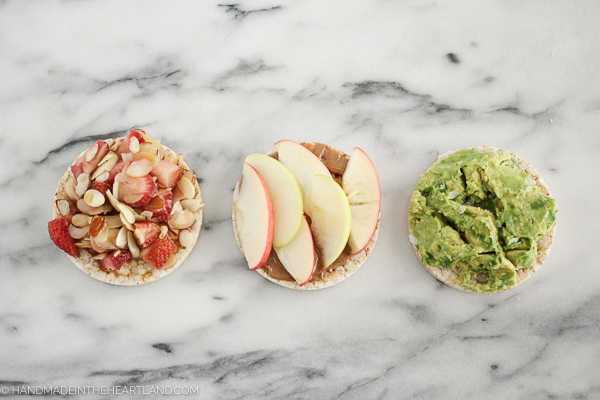 three combinations for healthy snacks