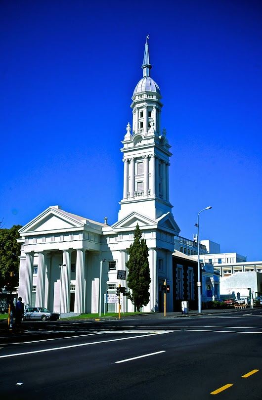 Don Donovan's World: Photoprint for Sale: St.Andrew's Presbyterian Church 1850, Auckland, New Zealand