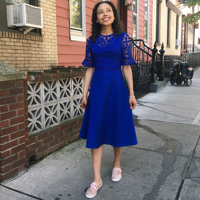 Danai Kadzere Blue ASOS Dress
