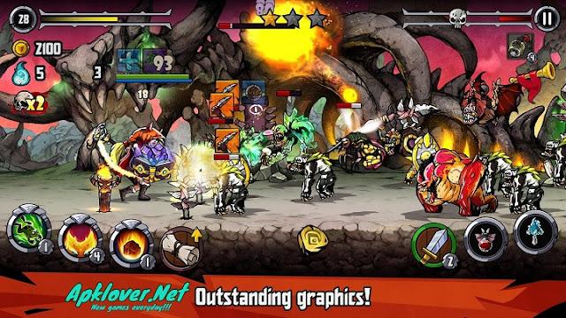 Bravium Hero Defense RPG MOD APK high damage