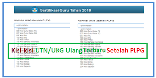 Kisi-kisi UTN/UKG Ulang3 tahun 2019