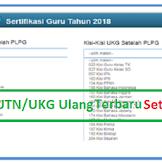 Kisi-kisi UTN/UKG Ulang 3 dan 4 tahun 2019