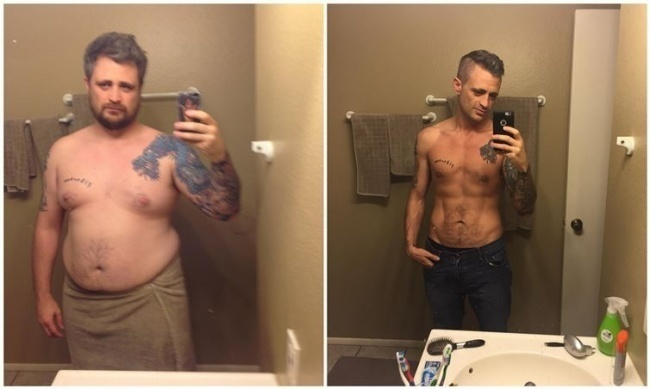 #6. It's hard to imagine that the guy on the right used to look like the guy on the left. - 23 Inspirational Before/After Photos Of People Who Can Say 'I Did It.'