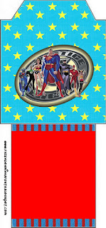 Justice League, Free Printable Tea Bag.