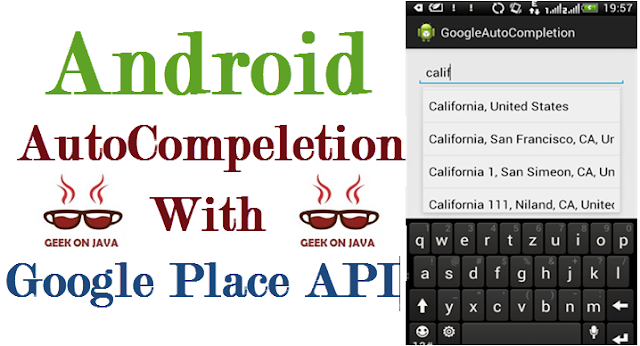 Use Google Places Autocomplete API, in Android Search Dialog