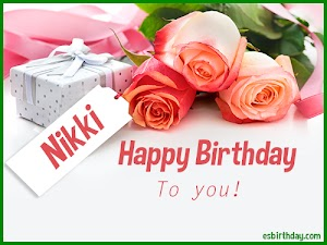 Happy Birthday Nikki