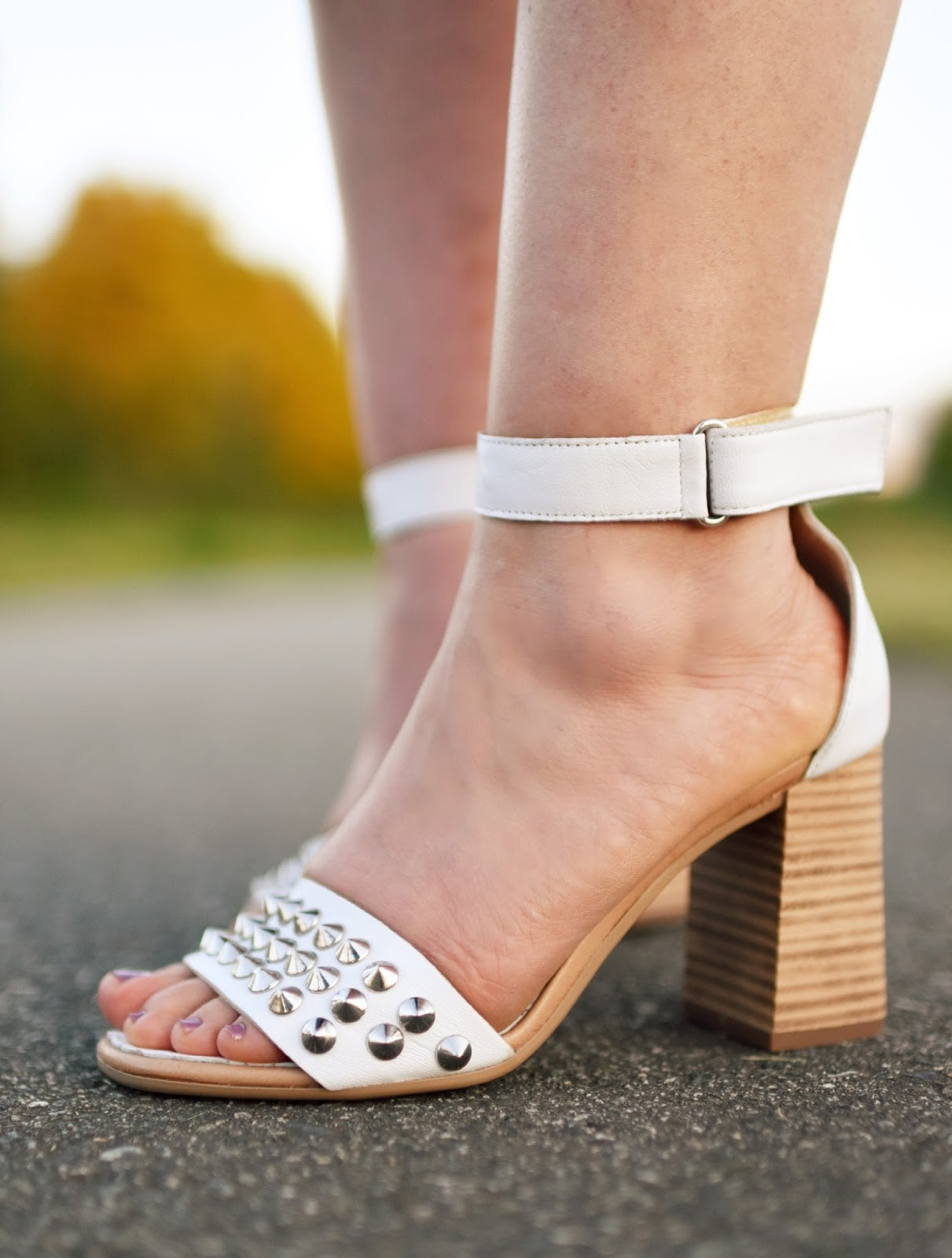 studded ankle-strap sandals