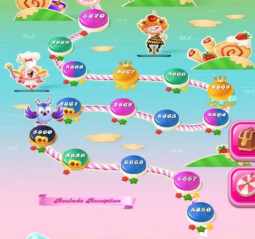 Candy Crush Saga level 5856-5870