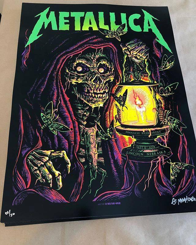 INSIDE THE ROCK POSTER FRAME BLOG: Metallica Lincoln Print