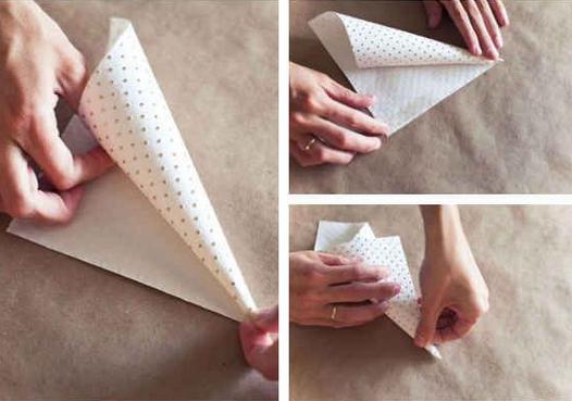 cone+1 - Como fazer cone para arroz/ pétalas