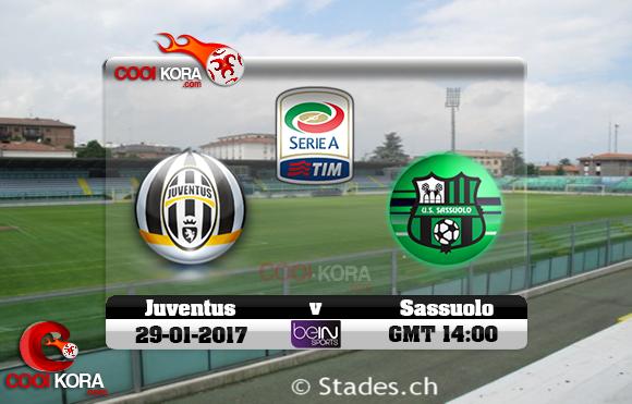 مشاهدة مباراة ساسولو ويوفنتوس اليوم 29-1-2017 في الدوري الإيطالي