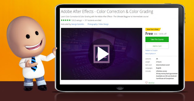 [100% Off] Adobe After Effects - Color Correction & Color Grading|Worth 50$