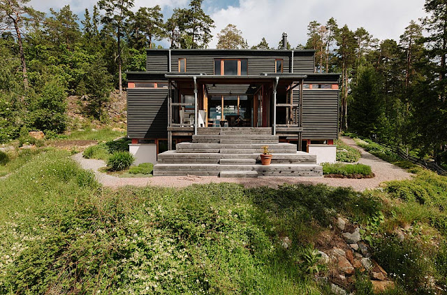 дневник дизайнера: Необычная конструкция деревянного дома ...