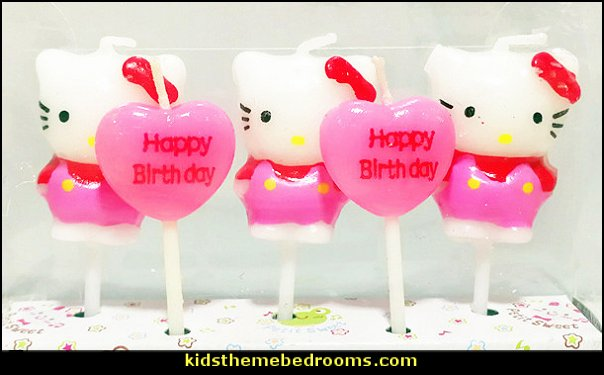 Hello kitty With Heart Birthday Candles  hello kitty party supplies - hello kitty party decorations ideas - Hello Kitty party decor - Hello Kitty balloons - hello kitty cake - Hello Kitty party table decorations - Hello Kitty cupcakes - Hello Kitty themed party - Hello Kitty Costume