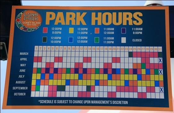 Detalhes sobre o Luna Park em Coney Island em Nova York