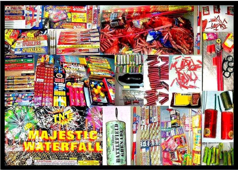 Fireworks Discovered by TSA Officers