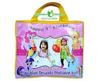 tas ultah anak, tas ultah murah, tas ulang tahun, tas ultah little pony, goodie bag ultah