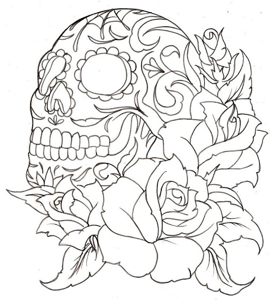 Skull Online Coloring Pages Printable Coloring Book For Kids