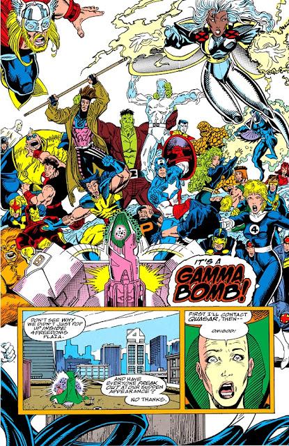 Los héroes descubren la bomba Gamma
